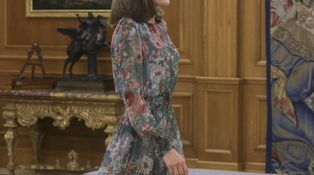 Letizia se versiona a sí misma con un vestido de Zara de 50 euros