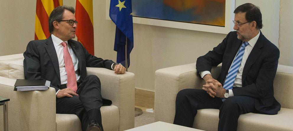 Foto: Rajoy y Mas durante la reunión en Moncloa (EFE)