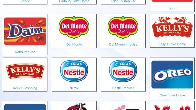 R&R Ice Cream trabaja con todas estas marcas.