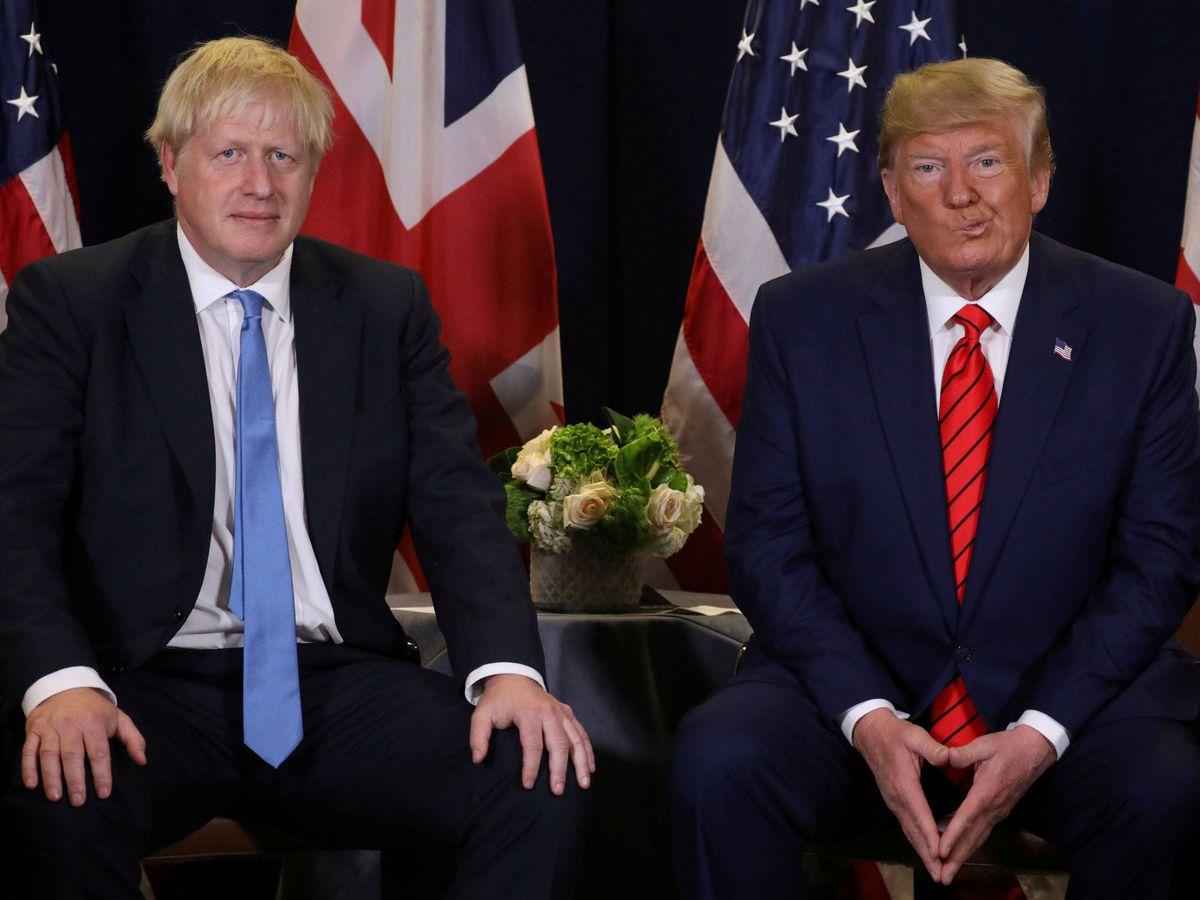 Foto: Boris Johnson y Donald Trump. (Reuters)