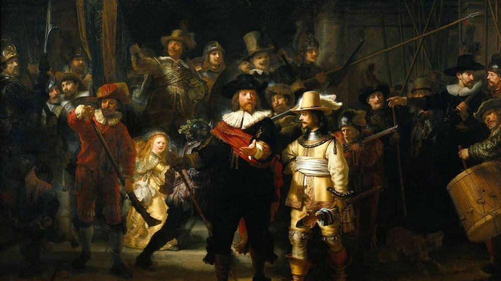 Foto: 'La ronda de noche' de Rembrandt.