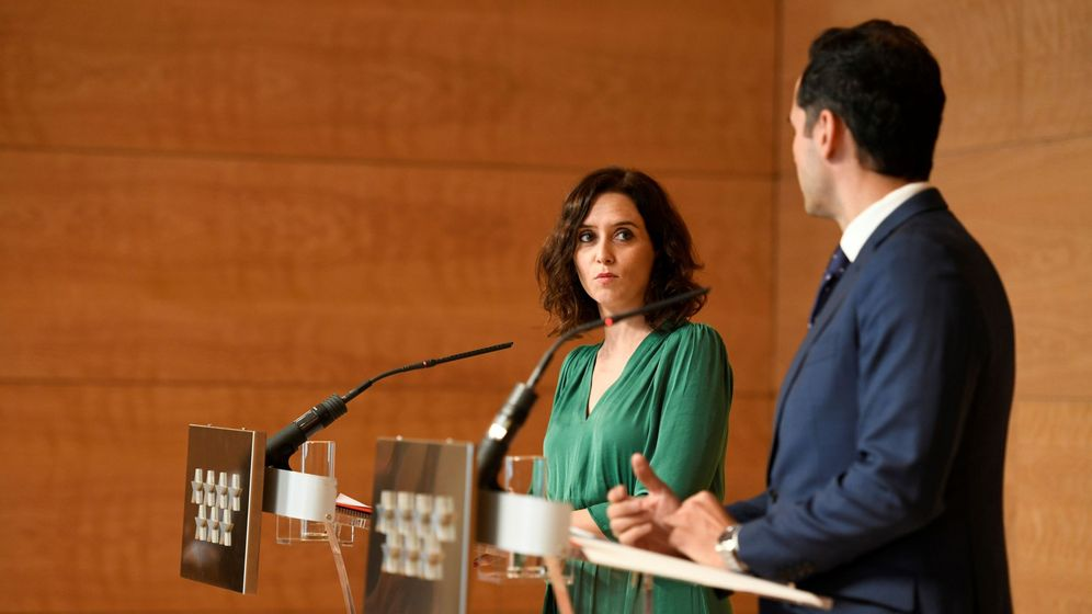 Foto: La presidenta de la Comunidad de Madrid, Isabel Díaz Ayuso, y el vicepresidente, Ignacio Aguado. (EFE)