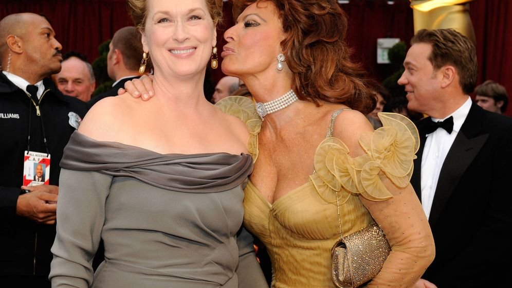 Foto: Las actrices Meryl Streep and Sophie Loren durante los premios Óscar 2009 (Getty Images)