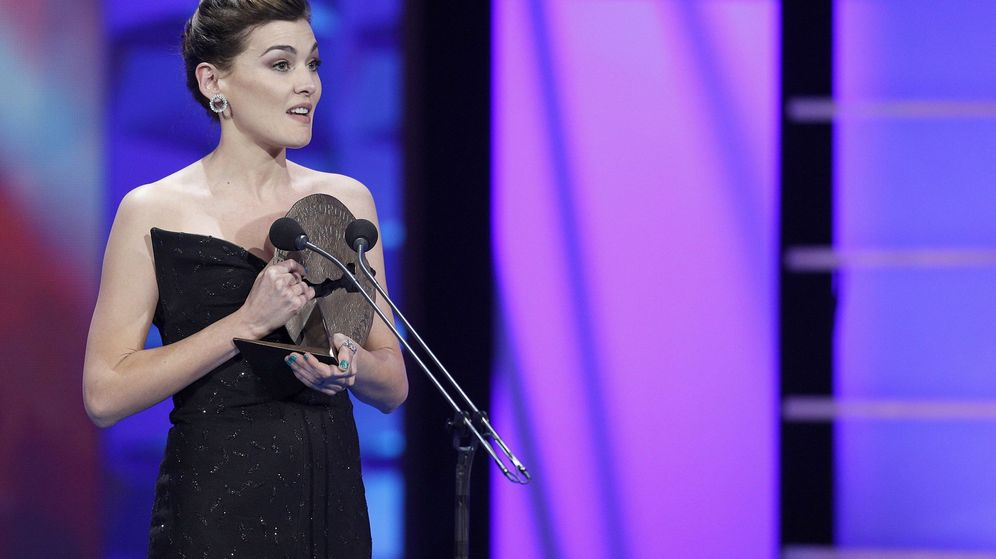 Foto: Marta Nieto recoge un Premio Forqué el pasado enero. (Efe)