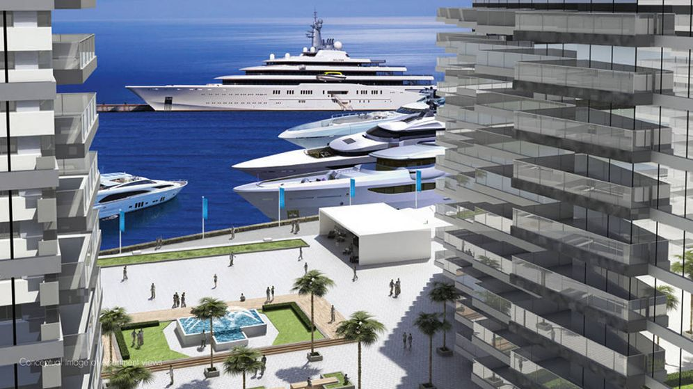 Foto: El proyecto Blue Water Development incluirá un puerto deportivo con capacidad para yates de hasta 170 metros de eslora