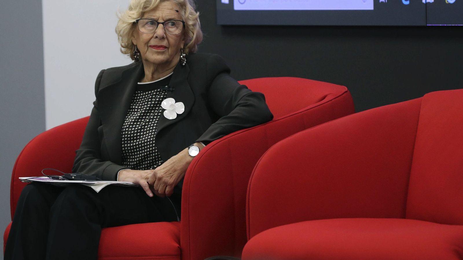 Foto: La alcaldesa de Madrid, Manuela Carmena, en la sede de la Secretaría General Iberoamericana. (EFE)