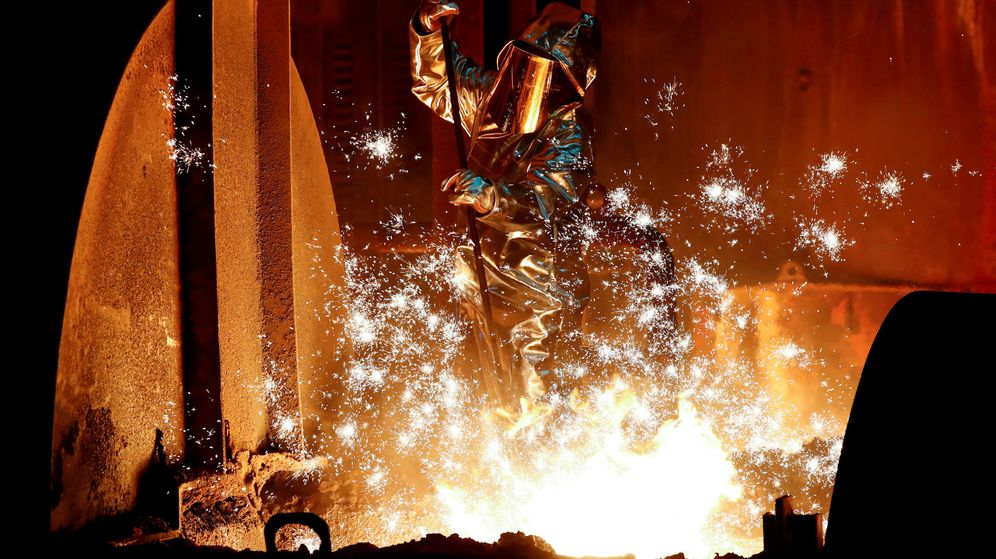 Foto: Foto de archivo de un productor de acero. (Reuters)