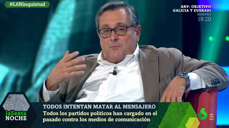 Marhuenda, en 'La Sexta noche'. (Atresmedia).