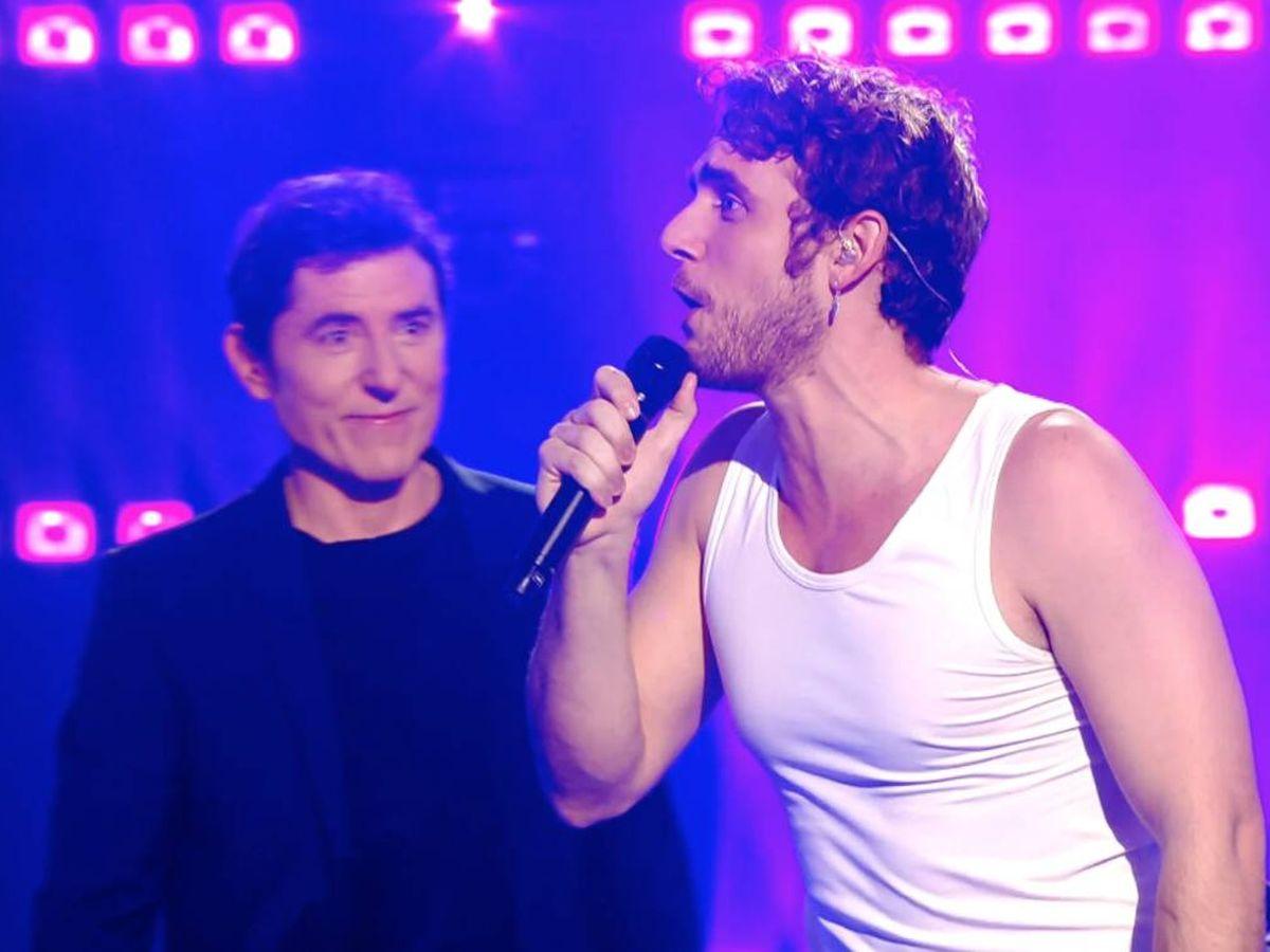 Foto:  Manu Pilas, en 'Veo cómo cantas'. (Atresmedia)