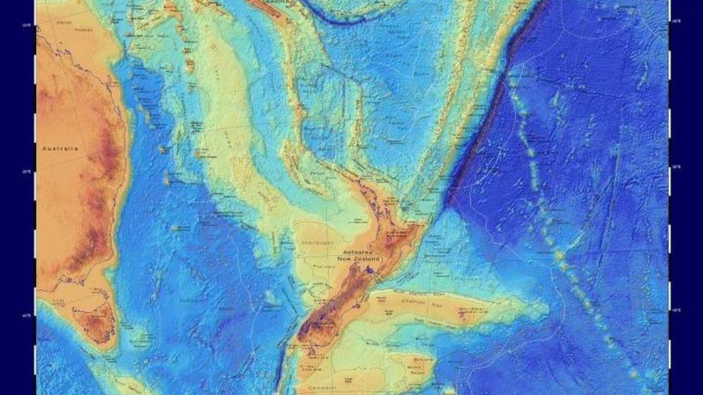 Mapean Zelandia por primera vez, el continente perdido hundido bajo el mar