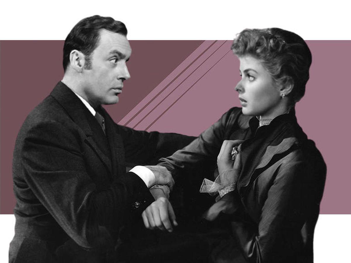 Foto: Ingrid Bergman y Charles Boyer, en 'Luz que agoniza'. (CP)