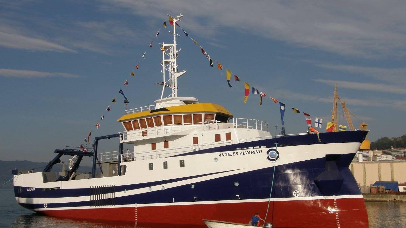 Foto: 'Ángeles Alvariño', del IEO, ha entrado en conflicto con la Armada británica en aguas de Gibraltar.