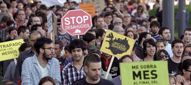Foto: Manifestación aniversario 15M. (Efe)