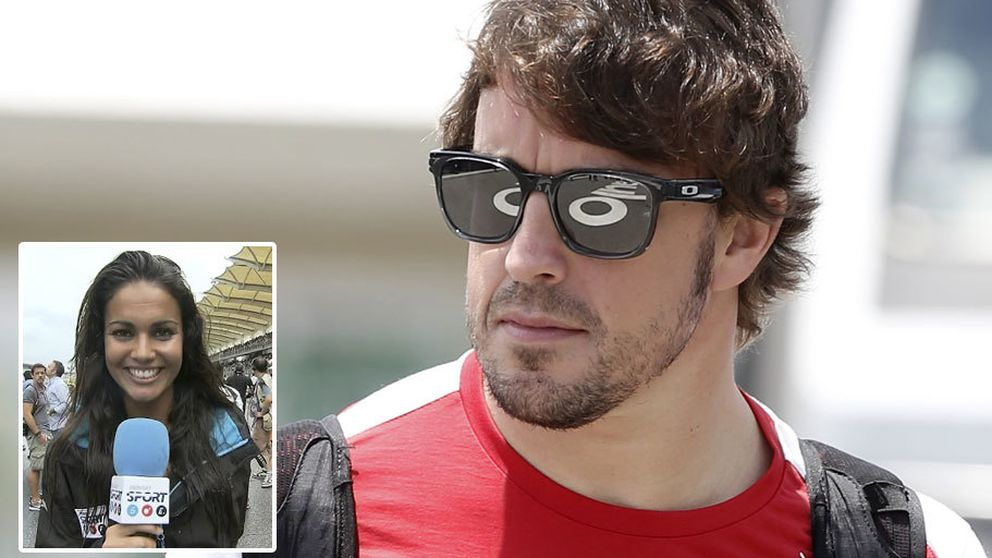 Fernando Alonso impone la ley del silencio a Lara Álvarez