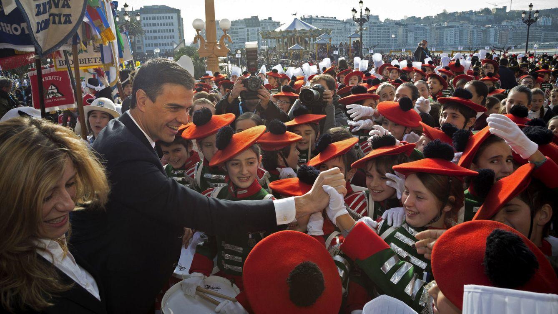 Foto: Pedro Sánchez, este 20 de enero durante su visita a San Sebastián en su día grande, que este año sirve como antesala a la inauguración de la capitalidad cultural europea 2016. (EFE)