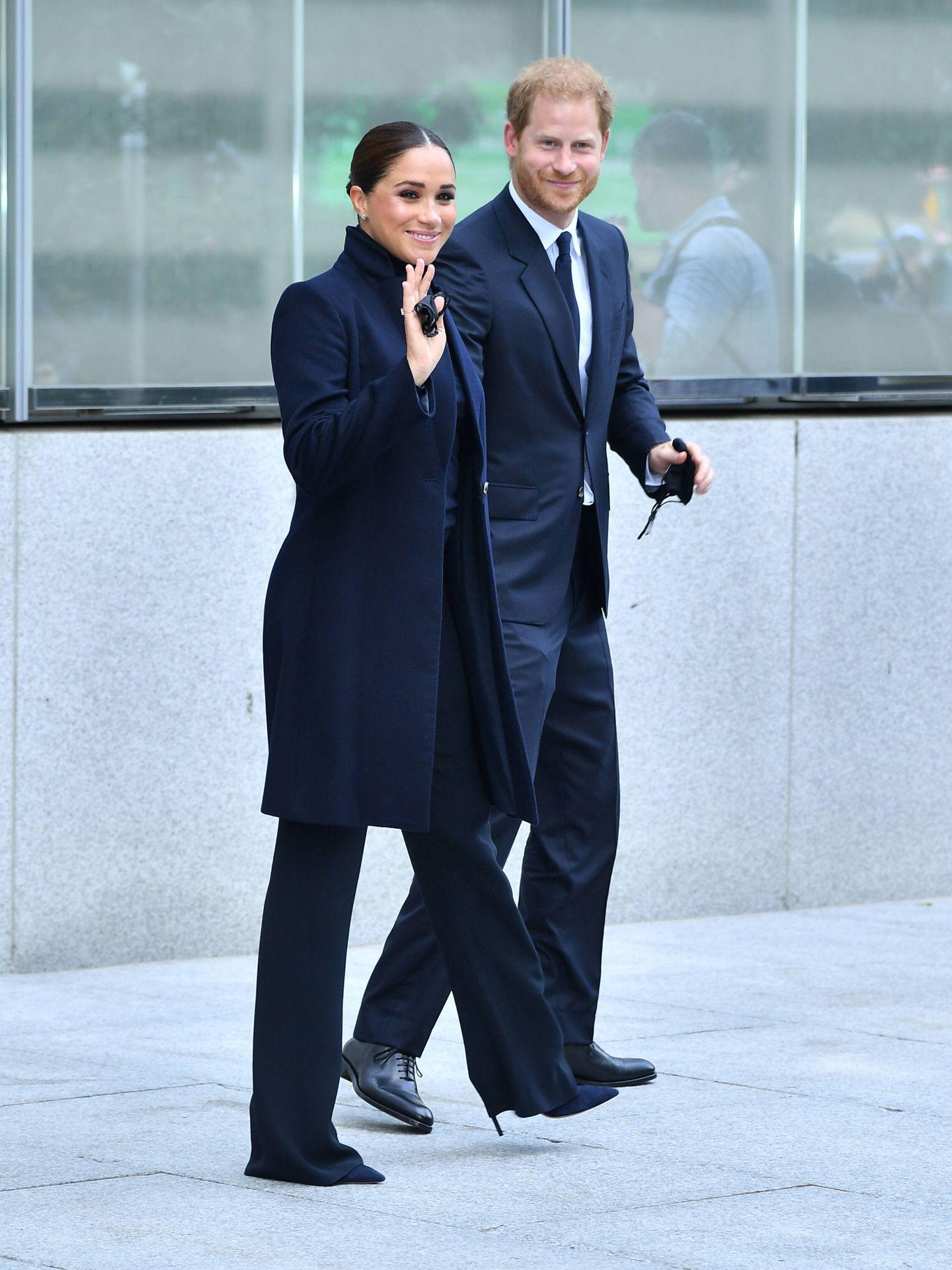 Meghan y Harry, en Nueva York. (Getty)