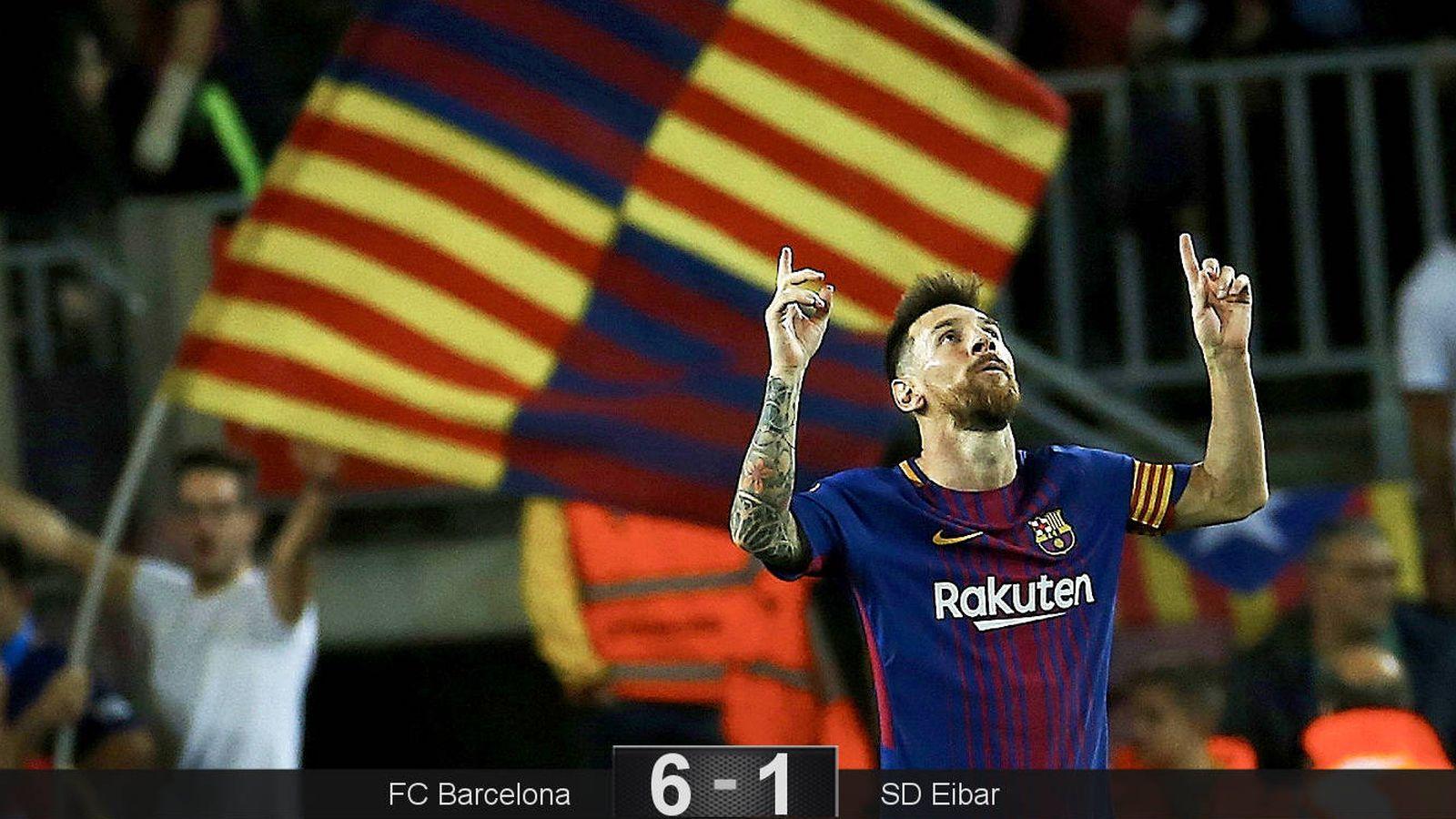 Foto: Messi hizo cuatro goles sin despeinarse. (EFE)
