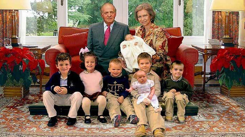 La felicitación navideña de los reyes Juan Carlos y Sofía en 2005. (Casa de S. M. el Rey)