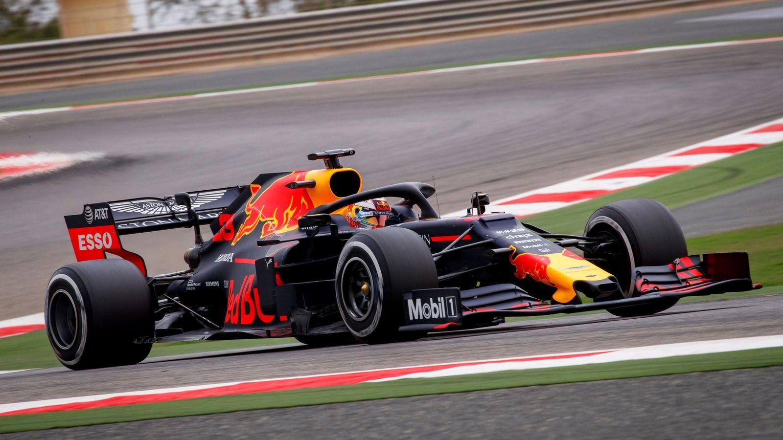 Foto: Verstappen en los test posteriores al GP de Bahréin. (EFE)