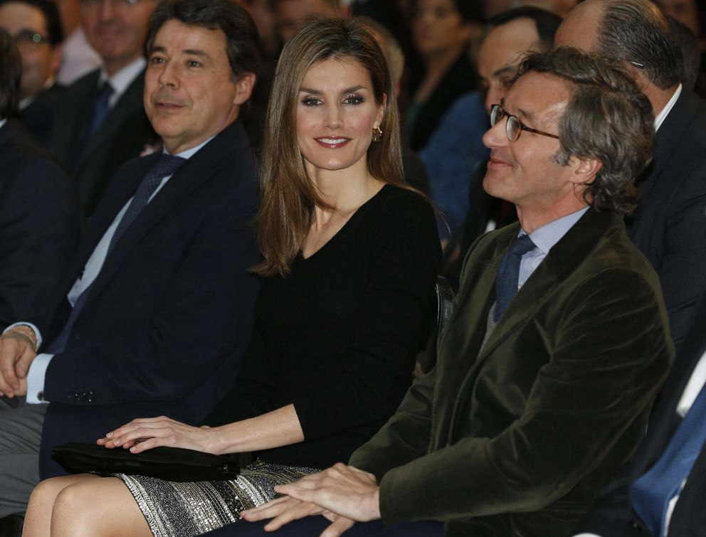 Con Letizia Ortiz e Ignacio González, en los Premios de literatura infantil y juvenil