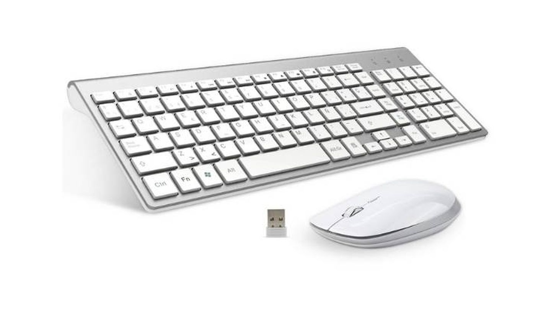 Teclado y ratón inalámbrico con diseño ergonómico FENIFOX