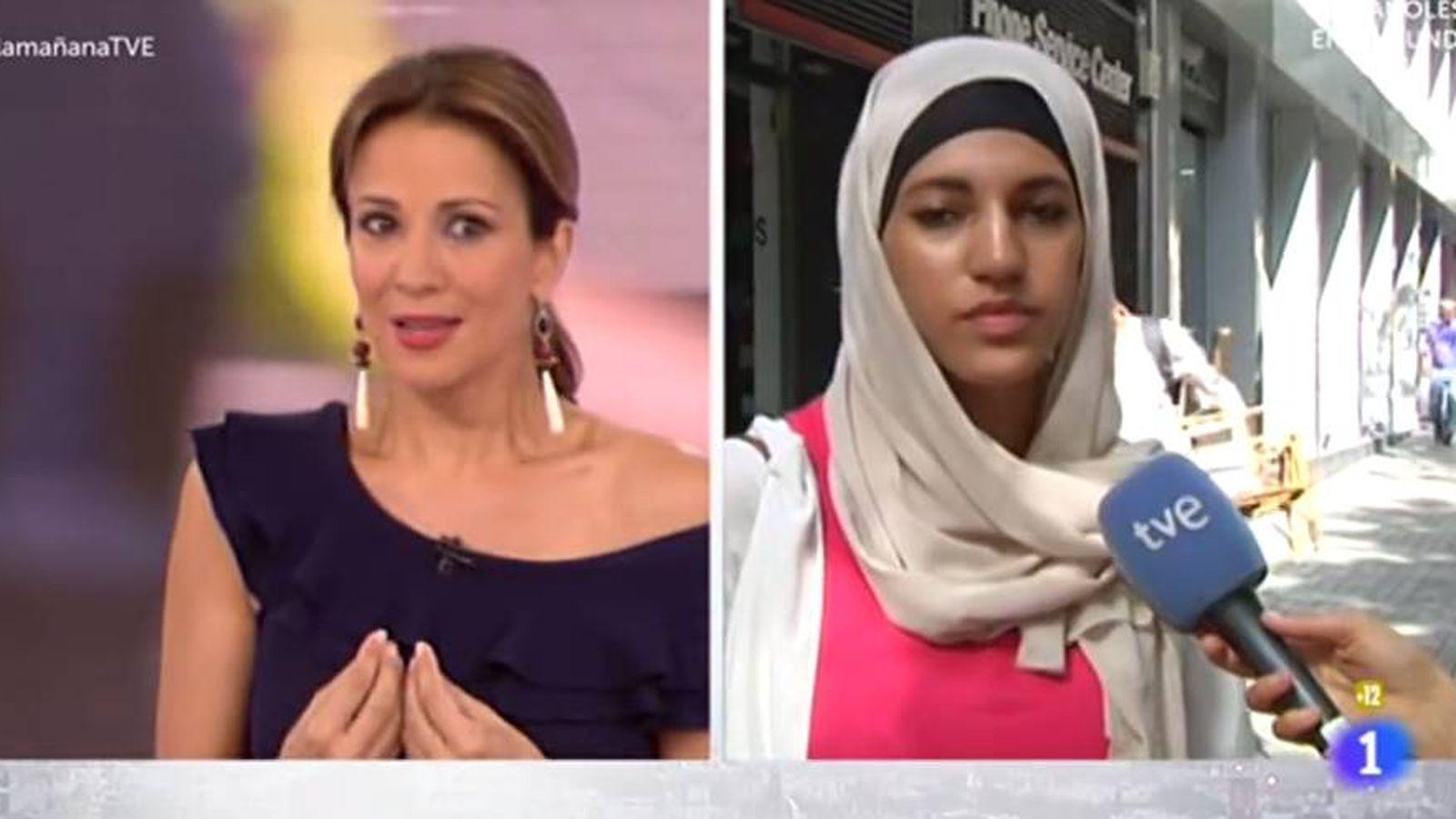 Foto: Polémica entrevista en TVE a una joven musulmana.