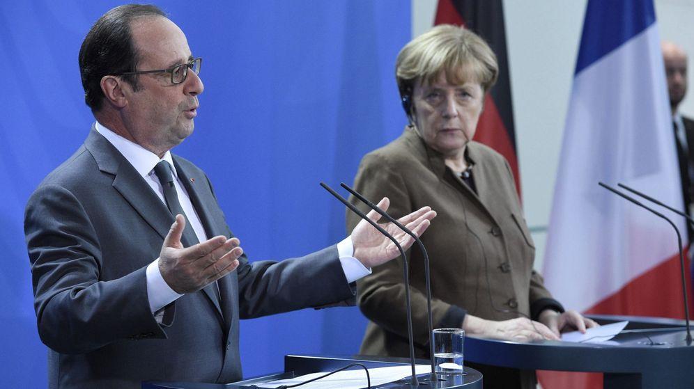 Foto: El presidente de Francia, François Hollande y la canciller alemana, Angela Merkel. (EFE)