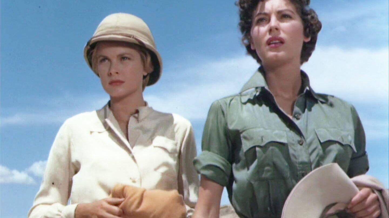 Grace Kelly y Ava Gardner en un fotograma de 'Mogambo', inspiración para la tendencia utility de Zara. (MGM)