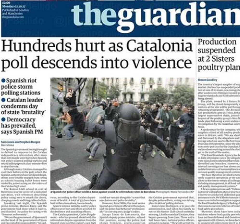 Foto: La prensa internacional habla de represión en el 1-O