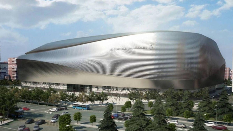 Foto: Panorámica del nuevo estadio Santiago Bernabéu.
