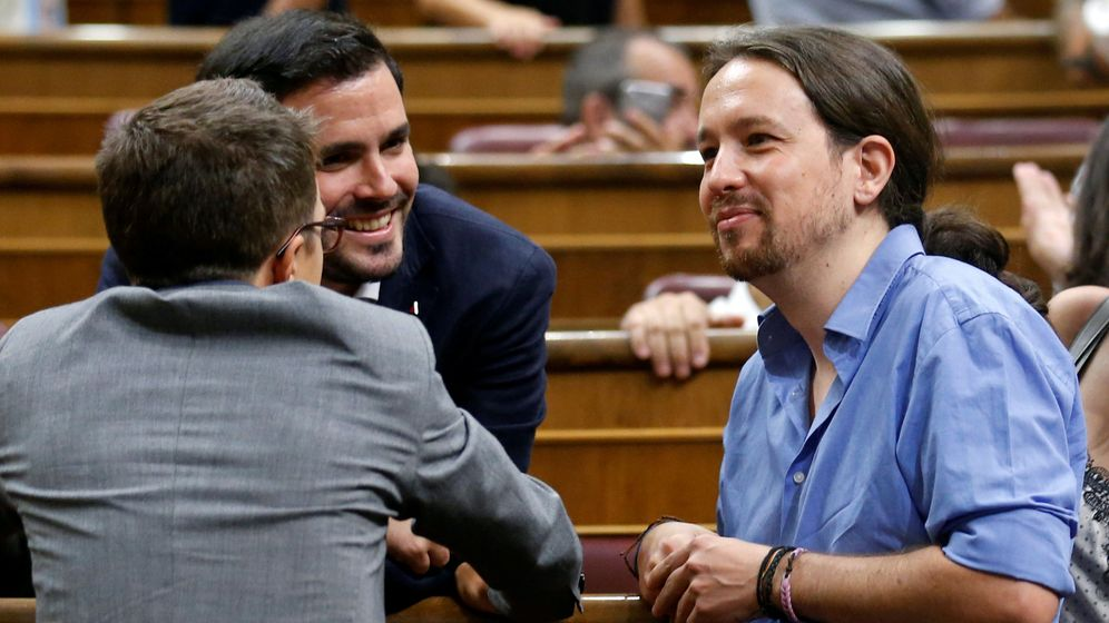 Foto: Pablo Iglesias, en la sesión de investidura (EFE)