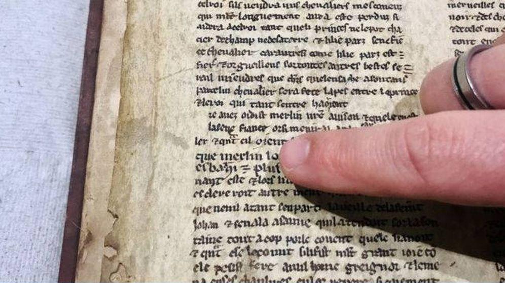 Foto: El nombre de Merlín aparece en los siete manuscritos encontrados (Foto: Universidad de Bristol)