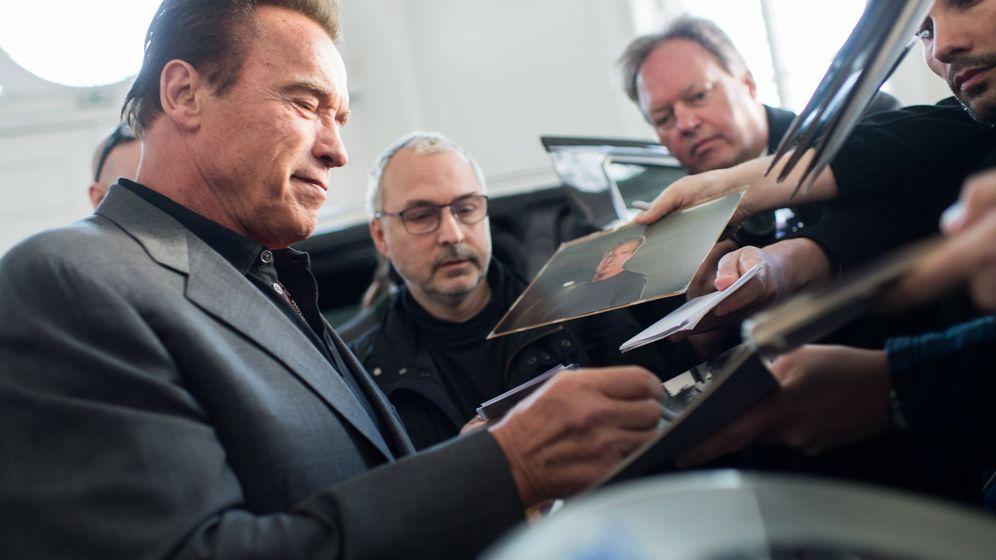 Foto: Arnold Schwarzenegger en Austria. (EFE)