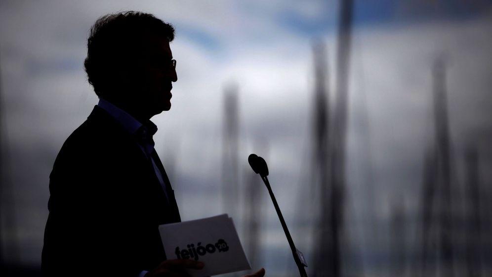 Foto: El presidente de la Xunta y candidato del PP a la reelección, Alberto Núñez Feijóo, da un mitin en A Coruña. (EFE)