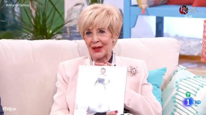 Concha Velasco, en el programa 'A partir de hoy'. (TVE)