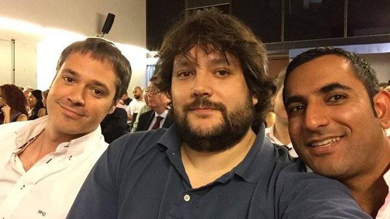 Los fundadores de Beroomers, Guillermo Ruiz, Antonio Huerta y Sunil Mahtani. (@SunilMahtani)