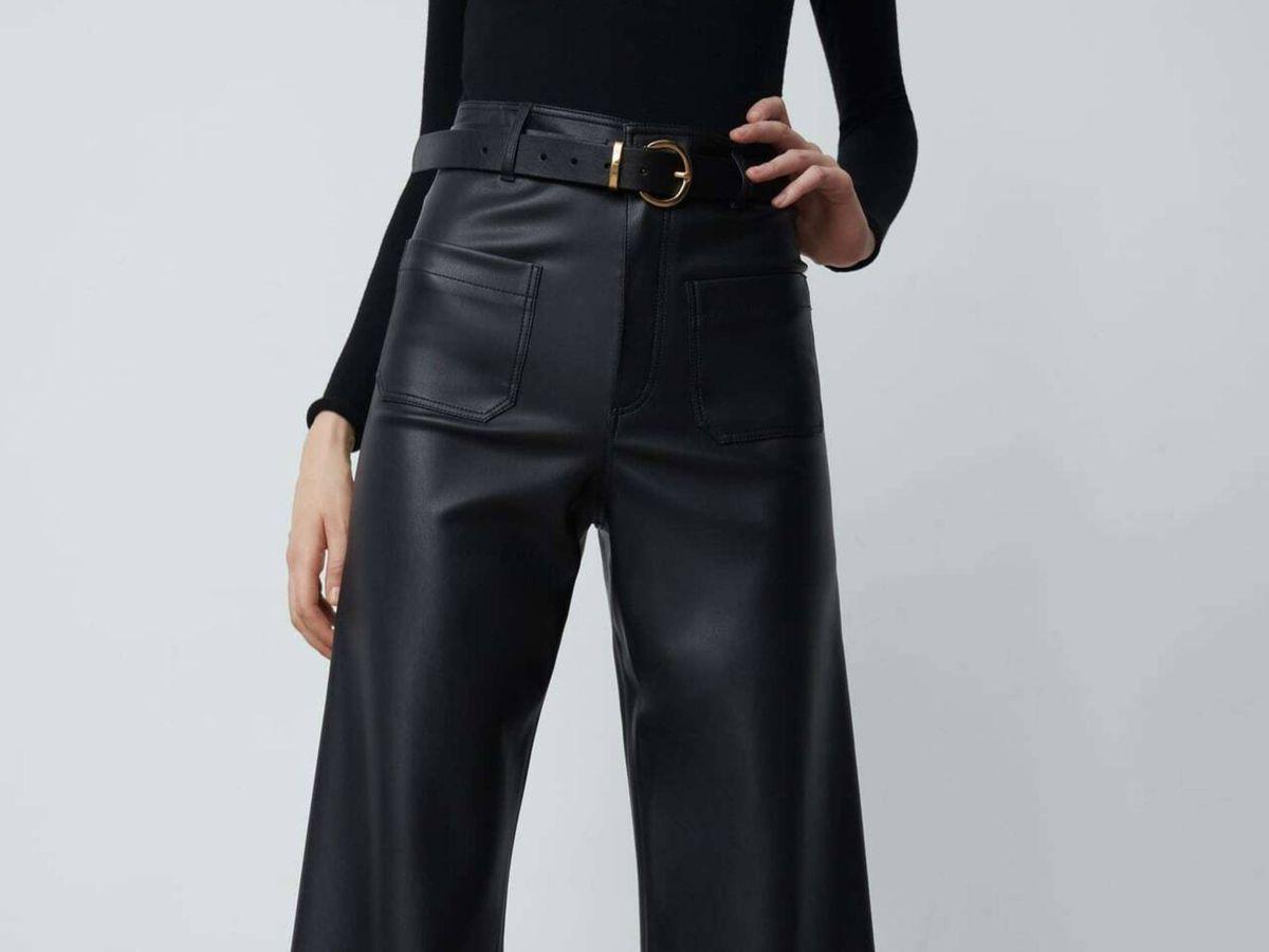 Foto: El pantalón efecto cuero de Zara. (Cortesía)