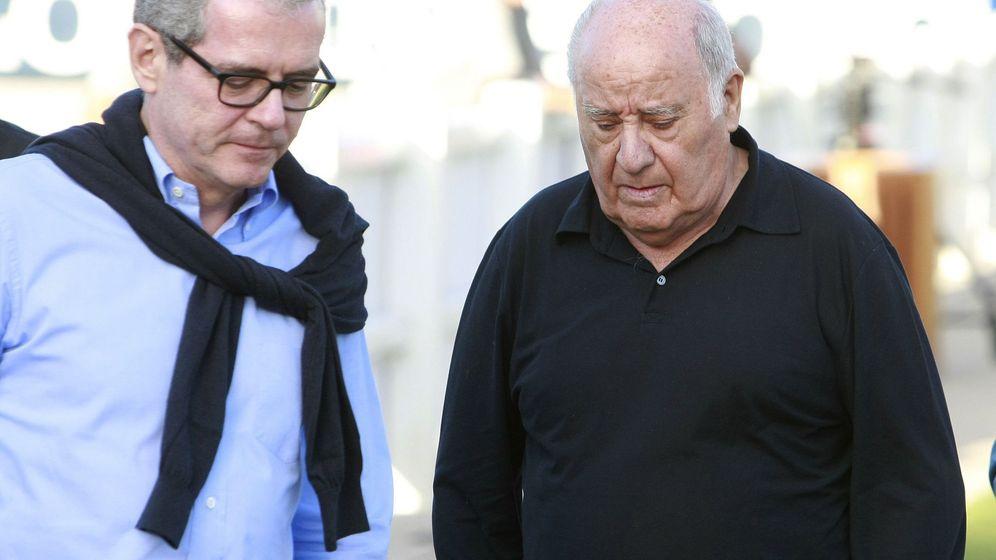 Foto: Amancio ortega, fundador de Inditex y Pontegadea, junto a Pablo Isla, presidente del grupo texto