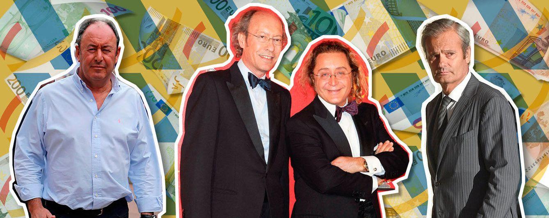 Foto: Luis Miguel Rodríguez, Victorio y Lucchino y Javier Merino en un fotomontaje realizado en Vanitatis