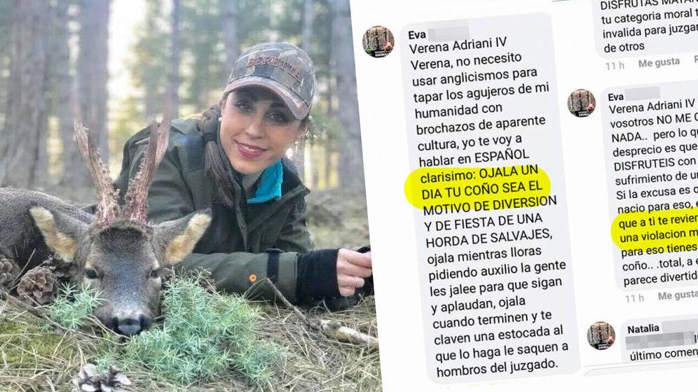 Foto: Las mujeres cazadoras denuncian ataques constantes. Aquí el último mensaje que va a ser denunciado en los juzgados.