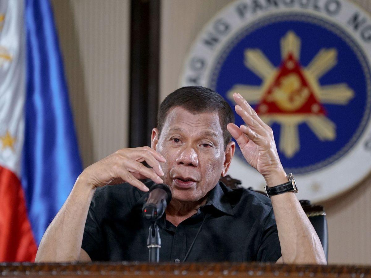Foto: Rodrigo Duterte, en un discurso. (EFE)