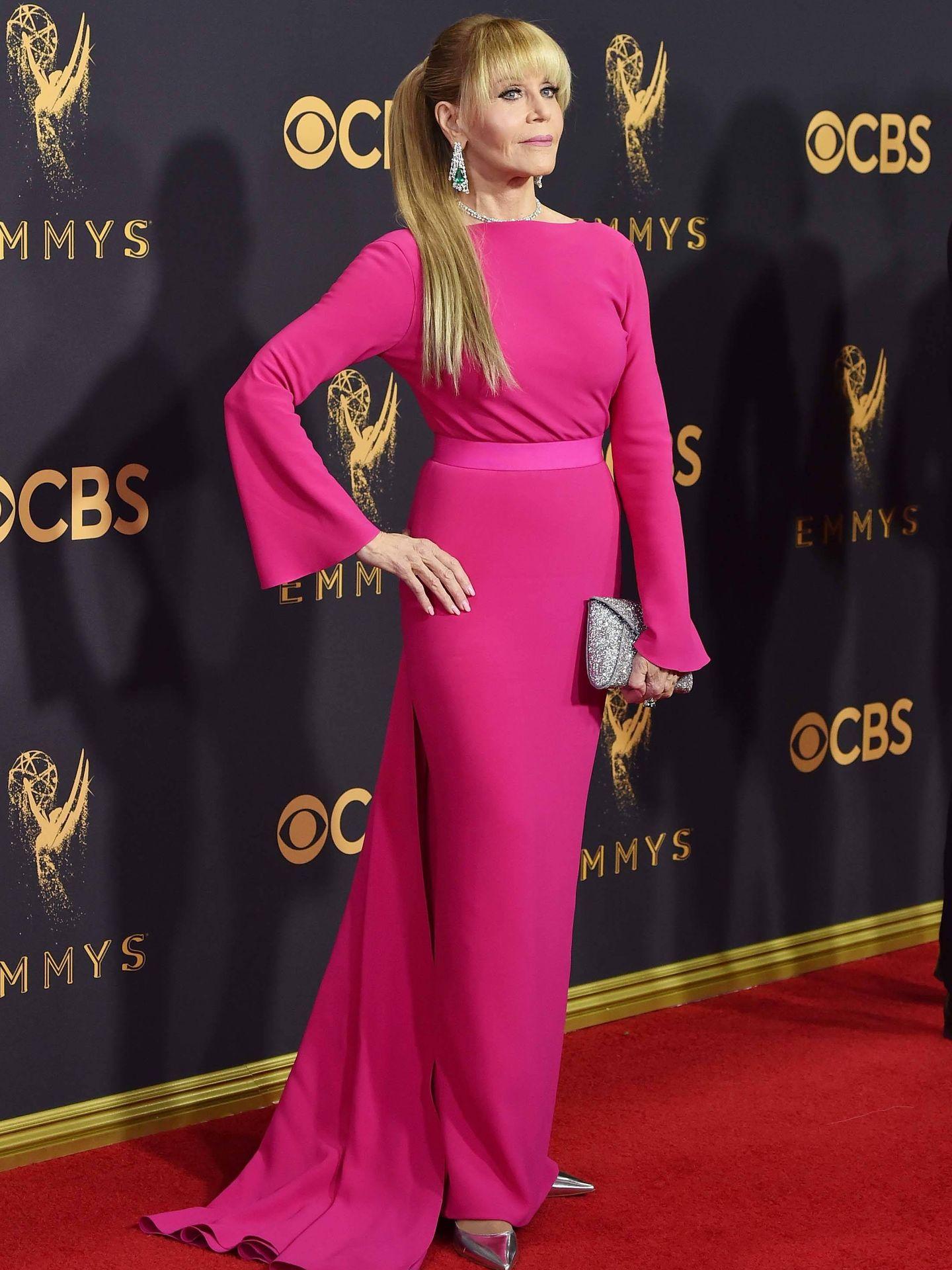 Jane Fonda, en los Emmy. (Getty)