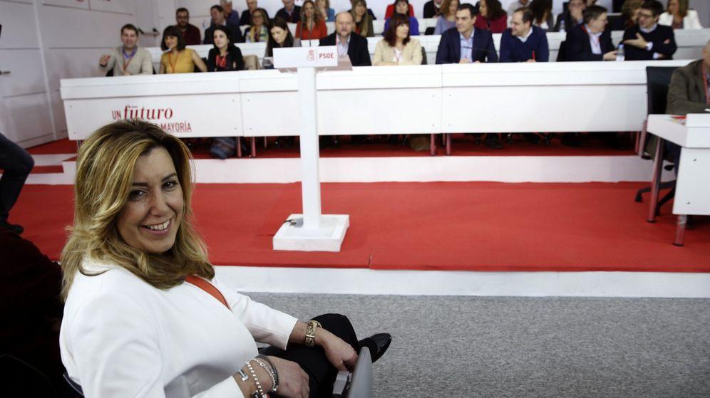 Foto: La presidenta de Andalucía, Susana Díaz, durante la reunión del último comité federal del PSOE, el pasado 28 de diciembre. (EFE)
