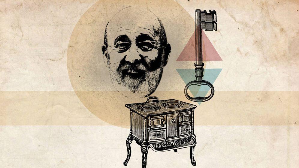 Foto: Una recreación de José Félix Tezanos en su 'cocina'. (Ilustración de Vanitatis)