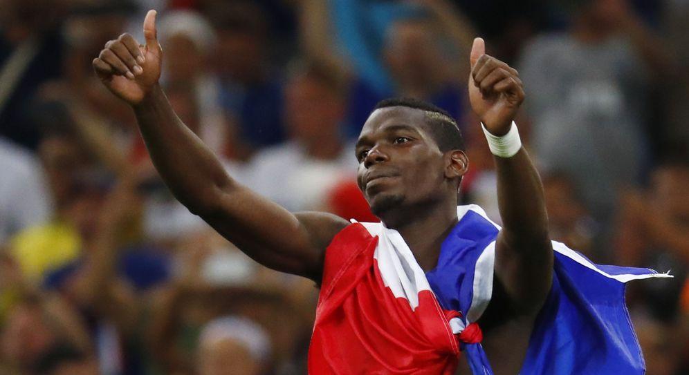 Foto: Paul Pogba celebra el pase de Francia a la gran final de la Eurocopa (Reuters)