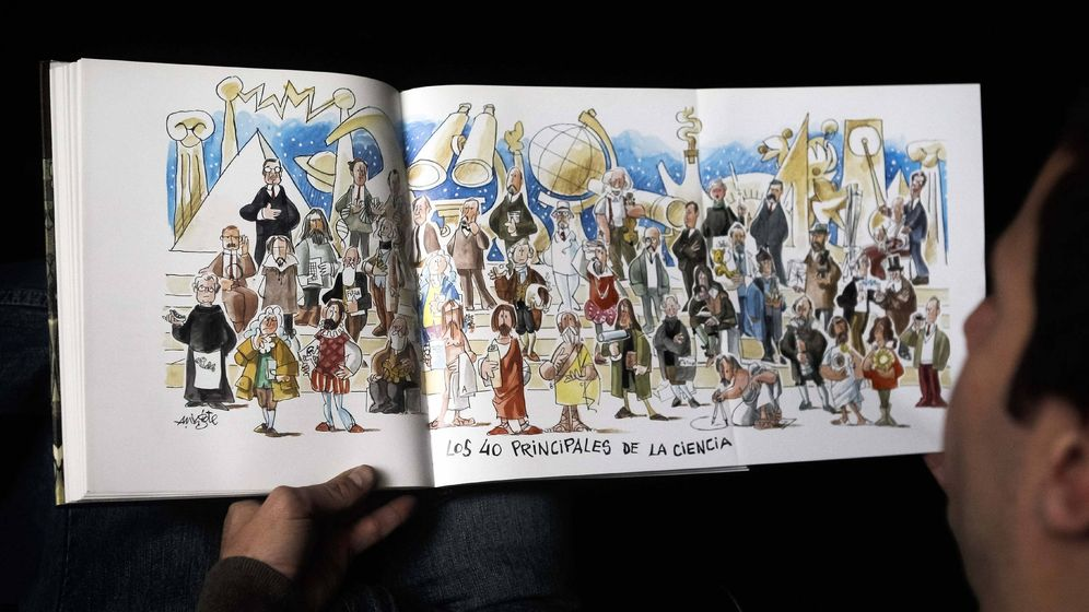 Foto: Un libro con dibujos de Antonio Mingote. (Efe)