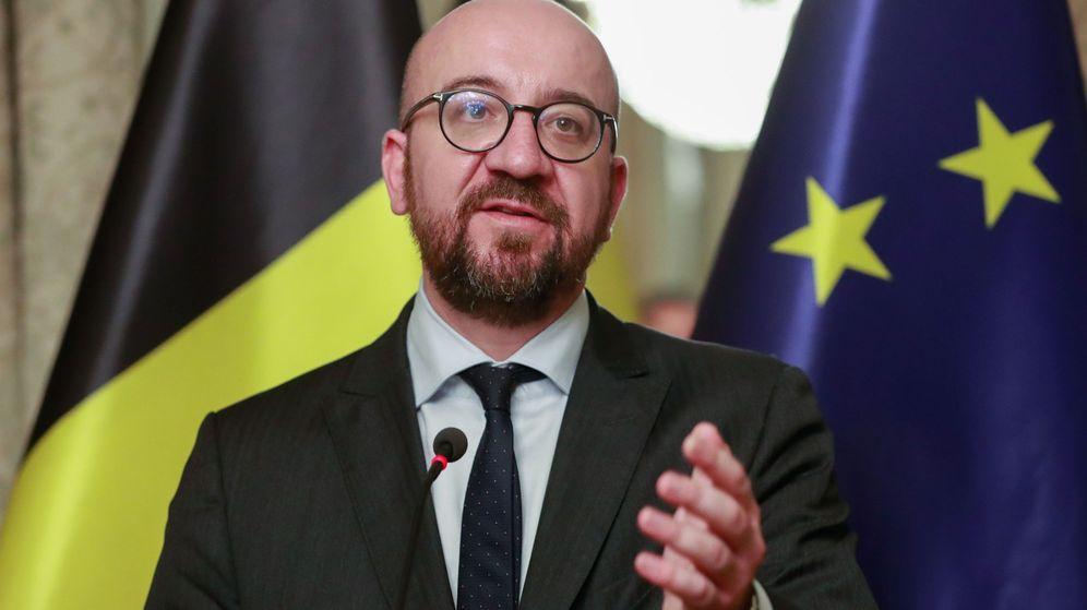 Foto: Rueda de prensa del primer ministro belga Charles Michel. (EFE)