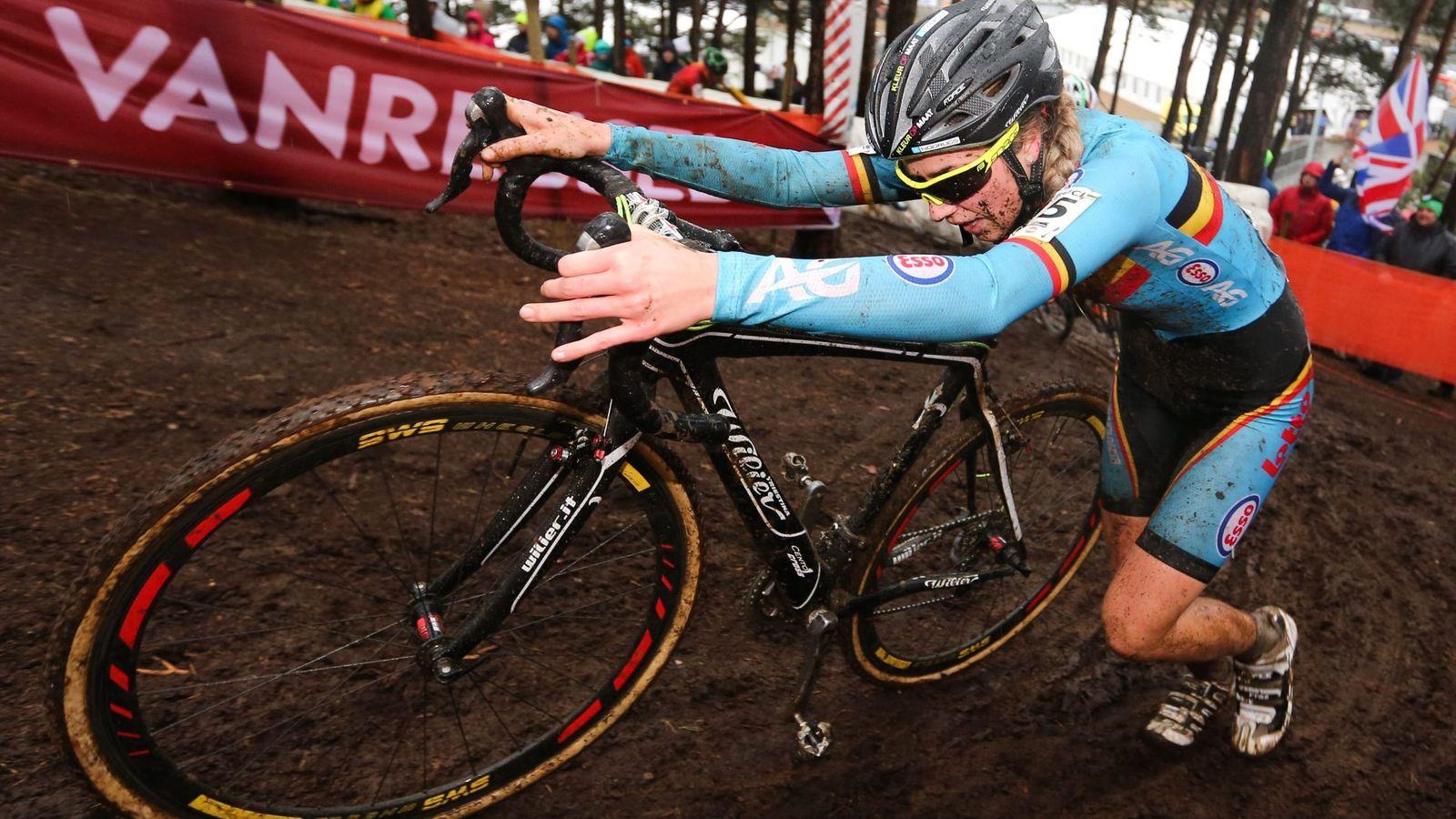 Foto: Van den Driessche, este sábado en el Mundial de Ciclocross.