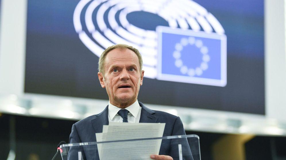 Foto: Donald Tusk en el Europarlamento. (EFE)