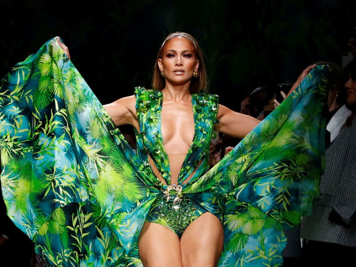 Foto: Jennifer Lopez, en el desfile de Versace en septiembre de 2019. (Reuters)